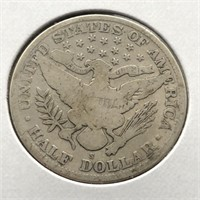 1915 S BARBER HALF DOLLAR  VG