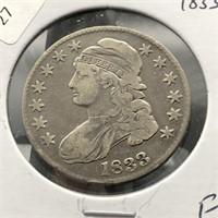 1833 BUST HALF DOLLAR  F