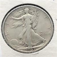 1937 WALKING HALF DOLLAR  VG