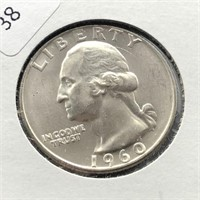 1960 D WASHINGTON QUARTER GEM