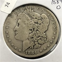 1884 O MORGAN DOLLAR  VG