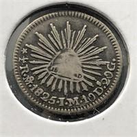 MEXICO 1825 1/2 REAL VG VERY RARE