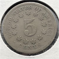 1868 SHIELD NICKEL  G