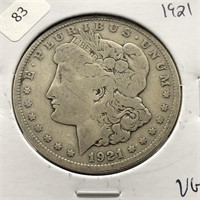1921 MORGAN DOLLAR  VG