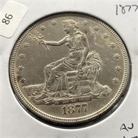 1877 TRADE DOLLAR AU DETAILS