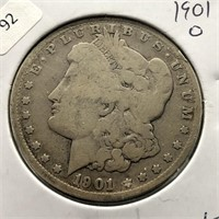1901 O MORGAN DOLLAR G