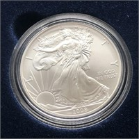 2008 W SILVER EAGLE W BOX PAPERS