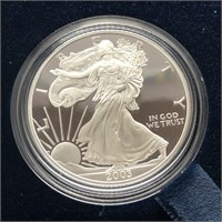 2003 PROOF SILVER EAGLE W BOX PAPERS