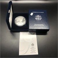 2004 PROOF SILVER EAGLE W BOX PAPERS
