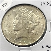 1922 PEACE DOLLAR CHOICE BU