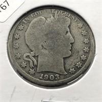 1903 BARBER HALF DOLLAR  G