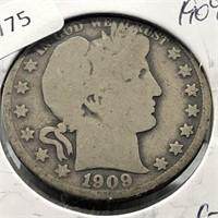 1909 BARBER HALF DOLLAR  G