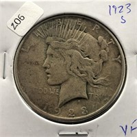 1923 S PEACE DOLLAR  VF