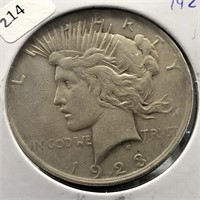 1923 PEACE DOLLAR  XF