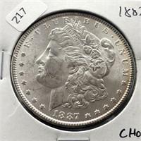 1887 MORGAN DOLLAR CHOICE BU