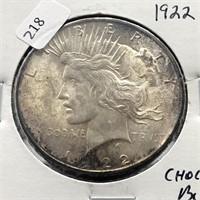 1922 PEACE DOLLAR  BU