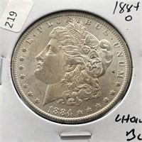1884 O MORGAN DOLLAR CHOICE BU