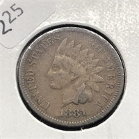 1881 INDIAN HEAD CENT  VF
