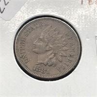 1881 INDIAN HEAD CENT  AU