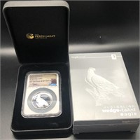 HIGH RELIEF WEDGE TAILED EAGLE NGC PF70UC