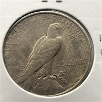 1922 PEACE DOLLAR  XF
