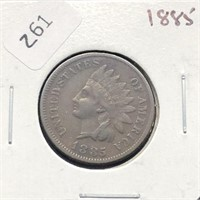 1885 INDIAN HEAD CENT  VF