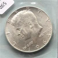 1964 KENNEDY HALF DOLLAR  GEM BU