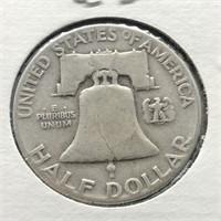 1951 FRANKLIN HALF DOLLAR  VF