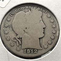 1912 BARBER HALF DOLLAR  G