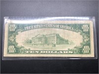 1929 $10 Knoxville TN Red Seal Note