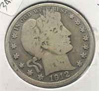 1912 S BARBER HALF DOLLAR  G