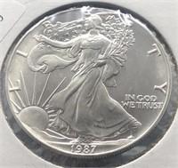 1987 SILVER EAGLE  GEM