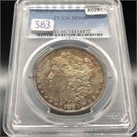 1882-S MORGAN Silver Dollar PCGS MS 66