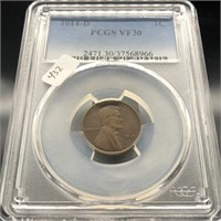 1914 D LINCOLN CENT  PCGS VF30