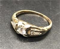 .33 CTW 14K GOLD DIAMOND ENGAGEMENT RING SIZE4 3/4