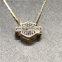 HARLEY DIVIDSON ANKLE BRACELET 10K GOLD