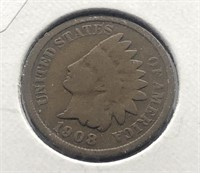 1908 INDIAN HEAD CENT  VG