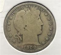 1900 BARBER HALF DOLLAR  G