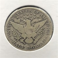 1915 D BARBER HALF DOLLAR  G