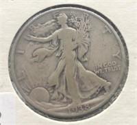 1938 WALKING HALF DOLLAR  VG