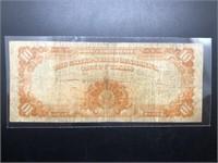 1922 10 $ GOLD CERTIFICATE  VF