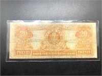 1922 20 DOLLAR GOLD CERTIFICATE  VF