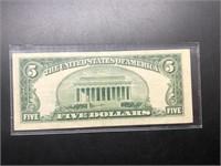 5 DOLLAR SILVER CERTIFICATE