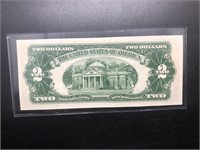 UNC TWO DOLLAR RED SEAL