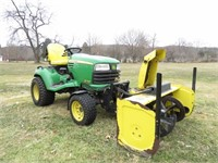 JD X748 Tractor and Trac Vac