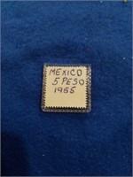 1955 Gold Mexico 5 Peso