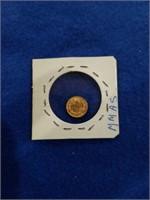 1945 Gold Mexico 2 Peso
