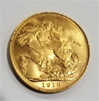 1918 Gold Sovereign