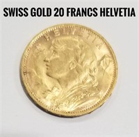 Switzerland 20 France Gold