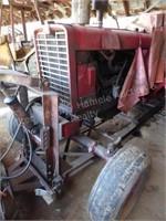 1456 IH tractor - runs - drives - w/ snowplow & ch